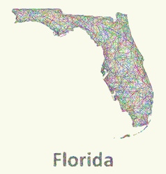 Florida line art map vector