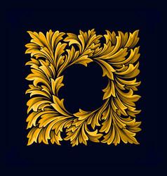 frame luxury vintage swirl gold flourish vector image