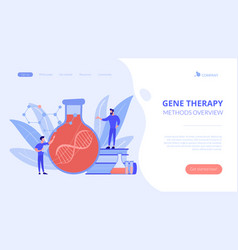 gene therapy concept landing page vector image