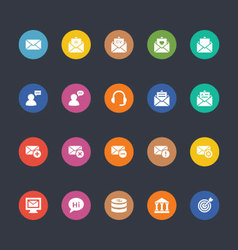 Glyphs Colored Icons 15 vector
