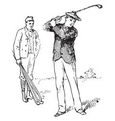 Golf vintage vector