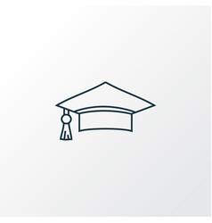 graduation cap icon line symbol premium quality vector image