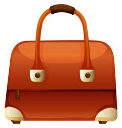Handbag with zip and handle vector