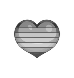 Heart icon black monochrome style vector