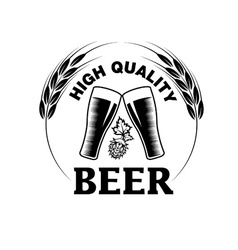 High quality beer emblem vector