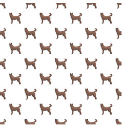 Home dog pattern seamless vector