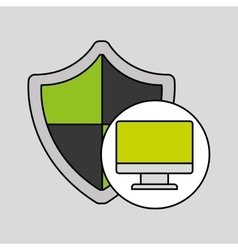 internet security computer protection shield vector image