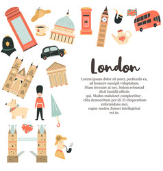 london background design with big ben tower vector image
