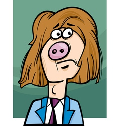Man with pig snout cartoon vector