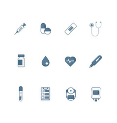 medical icon set flat design vector image