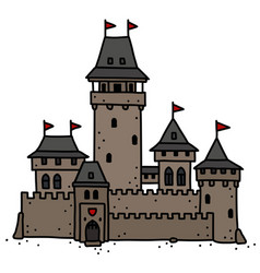 Old stone castle vector
