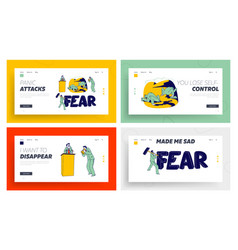 panic attack disorder landing page template set vector image