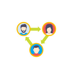 People interacting or team interaction icon vector