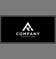 ra triangle logo design template vector image