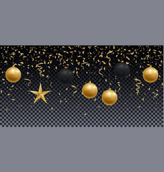 realistic shiny gold and black balls vector image