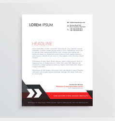 red black letterhead template design vector image