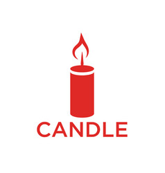 red candle icon template vector image