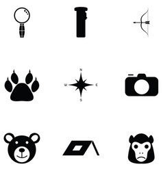 safari icon set vector image
