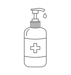 sanitizer icon antibacterial soap bottle vector image