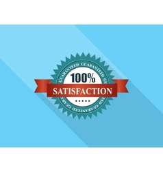 Satisfaction Label with Red Ribbon vector image