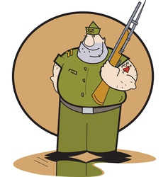 Sergeant soft heart vector image