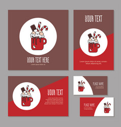 set greeting card for corporate branding vector image
