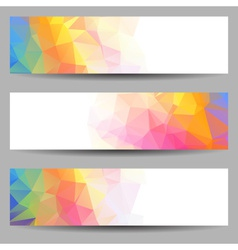Set of banners with abstract triangles vector image