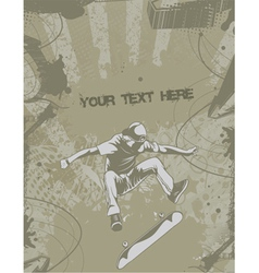 skater with grunge vector image