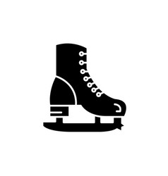 skates black icon sign on isolated vector image