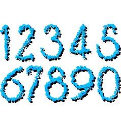 splatter numbers vector image