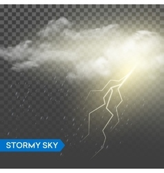 Storm lightning bolt Isolated on vector image