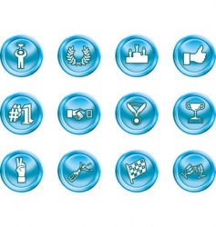 success and vctory icons vector image