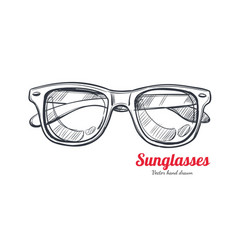 Sunglasses hand drawn 1 vector