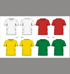 T shirt template vector