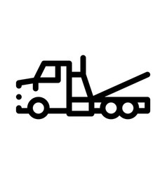 Tow trick service icon outline vector
