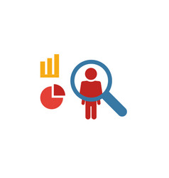 User behavior icon flat creative element from big vector