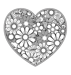 valentines day coloring page vector image