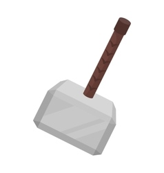 Viking battle hammer icon in cartoon style vector