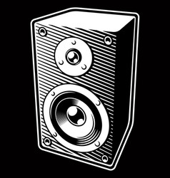 Vintage audio speaker vector