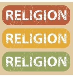 Vintage RELIGION stamp set vector