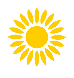 yellow sun icon isolated on white background vector image