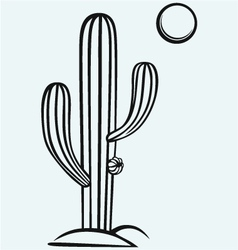 Cactus cartoon vector image vector image