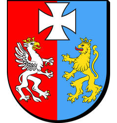 coat of arms of podkarpackie voivodeship in poland vector image vector image