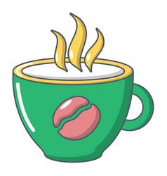 cup coffee icon cartoon style vector image