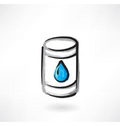 gasoline grunge icon vector image