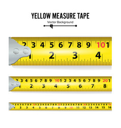 yellow measure tape centimeter and inch vector image