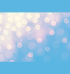 Abstract soft yellow bokeh light on blue luxury vector