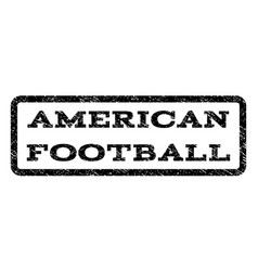 american football watermark stamp vector image