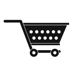 empty supermarket cart icon simple style vector image