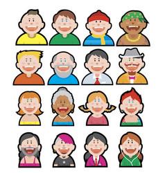 funny avatars set vector image